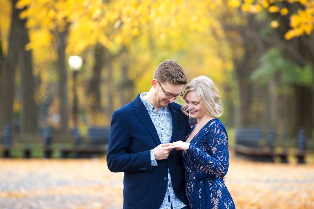 Central Park Engagement Photo Shoot Session NYC Wedding Photographer Fall-13.jpg