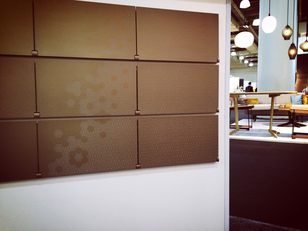 "Laser-Etched ""Spark & Hive"" from the Arcturus Pattern Series in Gold Anodized Aluminum"
