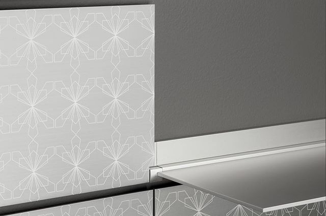 Laser etching. #modern #shelving #design #pattern