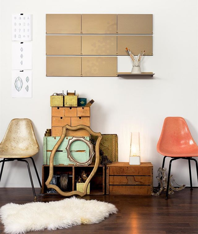 #gold #modern #shelving #eclectic