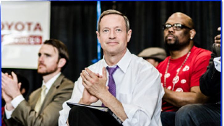 Maryland Governor Martin O'Malley kicked off the Flashmob for the students.