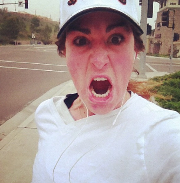 One of my first running selfies. That first month looked like this.