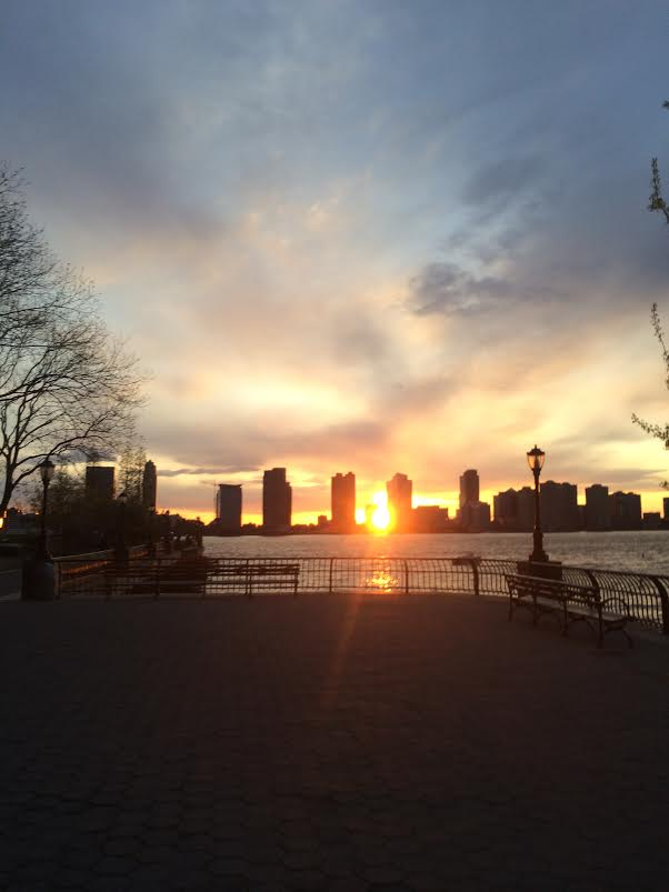 A battery park sunset run.