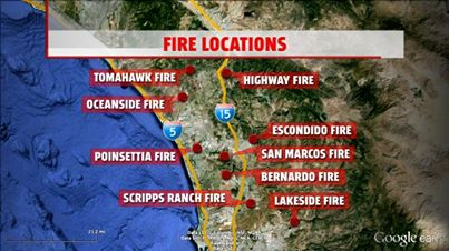 Photo from Fox 5 San Diego (My parent's live between the Poinsettia Fire and the San Marcos Fire)
