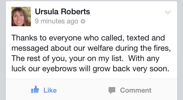 My mom's jokes.
