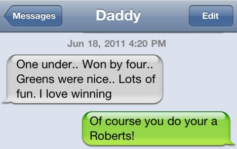 I love winning.