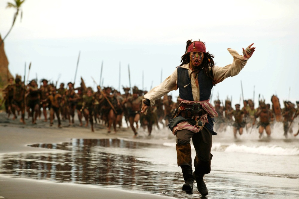 captain jack sparrow running