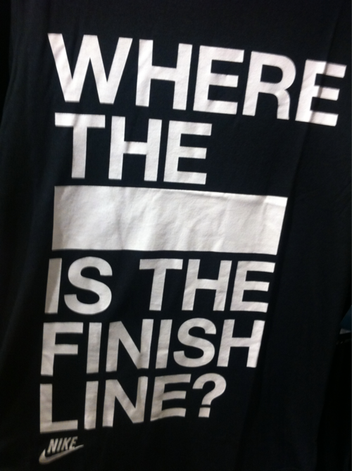 18. Where the (Blank) Is The Finish Line