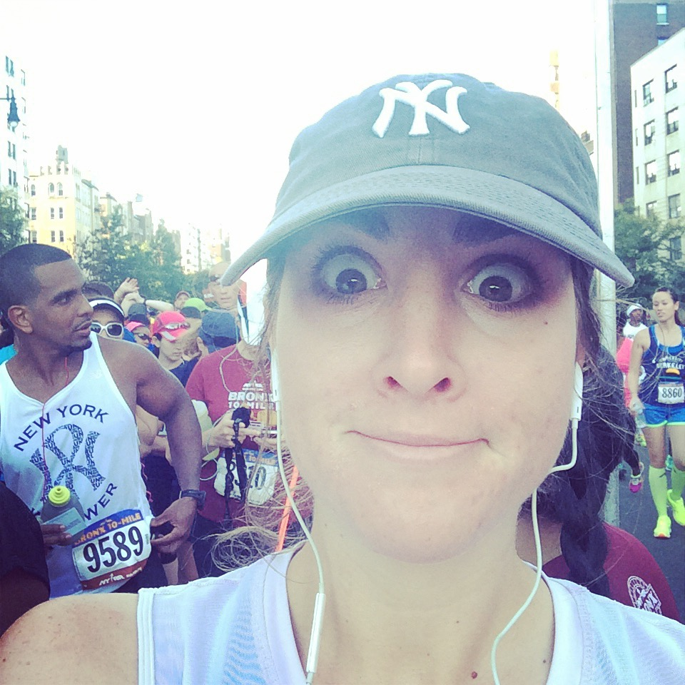 """I'm still, I'm still Jenny from the block. Welcome to the #bronx10miler. (My knee is killing me. I may need a foxy man to carry me through this one...)  """