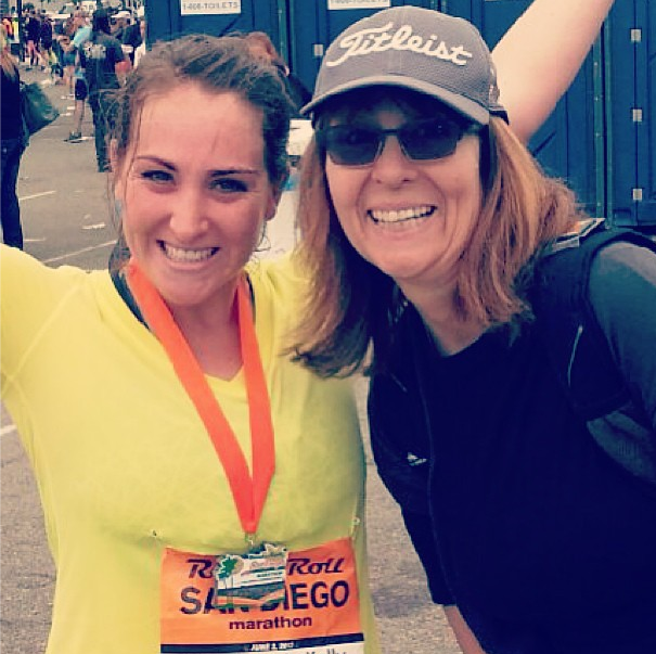 Me and my Mommy after my first marathon.