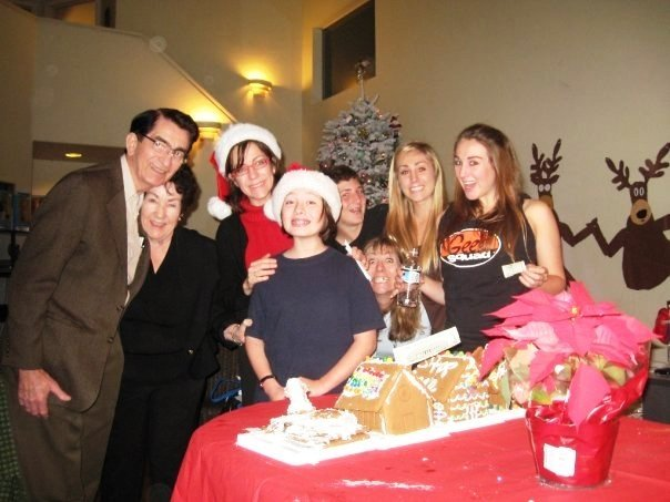 The annual Gingerbread house contest (you can see me waving my prize money)
