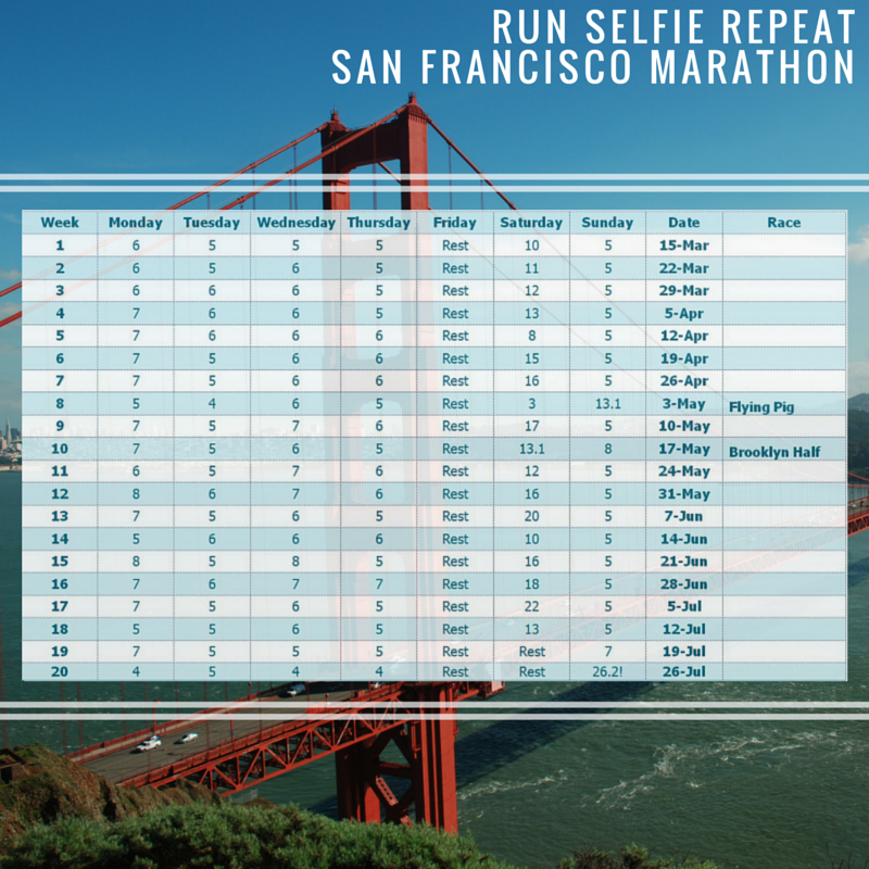 RSR Marathon Training Plan