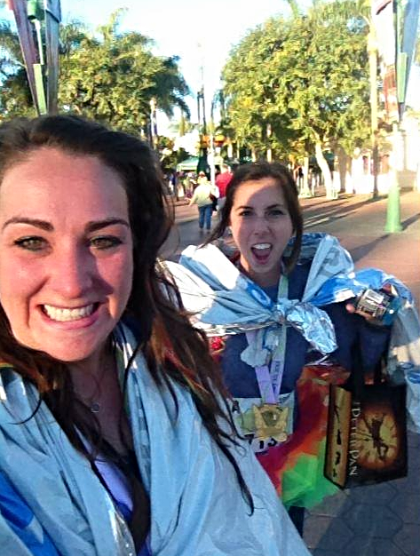 The face of a changed woman. This is Irene and I walking back to our hotel after the Tinkerbell Half Marathon in 2013.