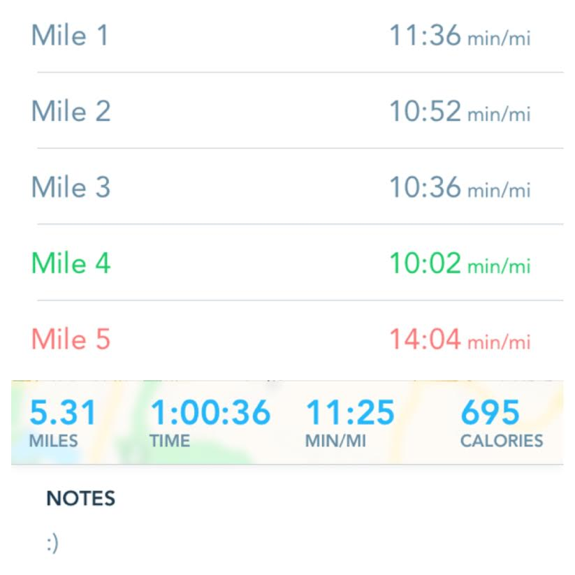 First Run With RunKeeper