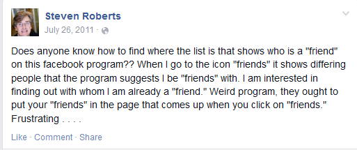 Understanding Friends On Facebook