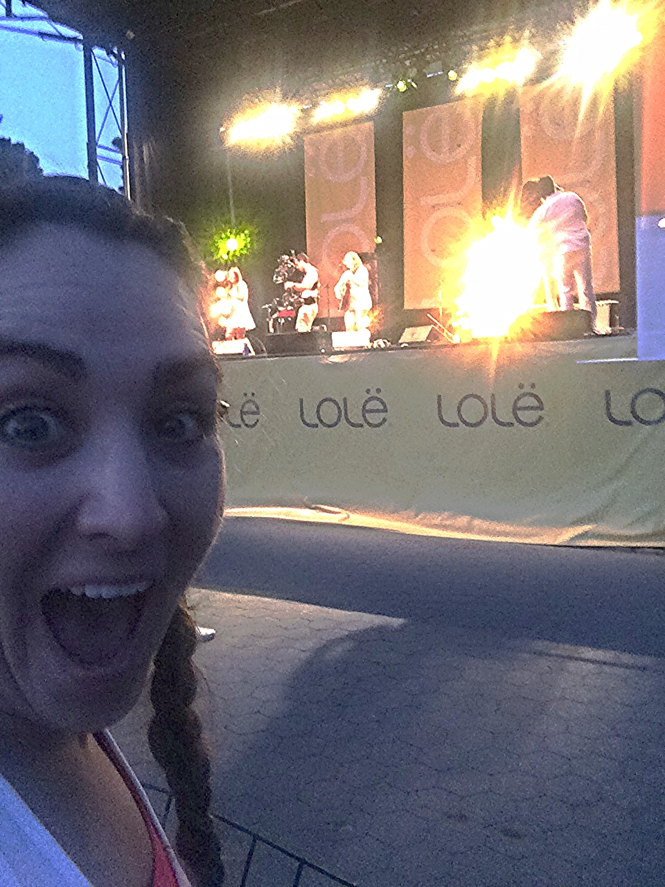 "This is my ""Oh my god I can't believe this is happening."" Face. Front row for Ingrid. My heart is still bursting."