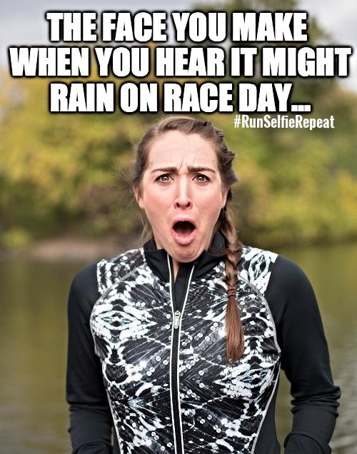 when you hear it might rain