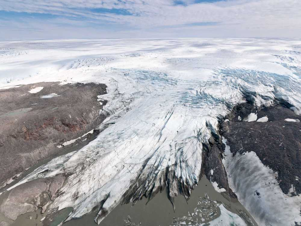 Melting glaciers contribute to rising sea levels.