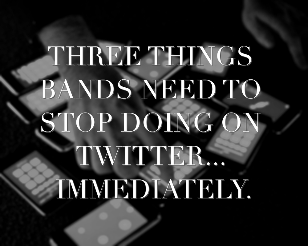 bands and twitter