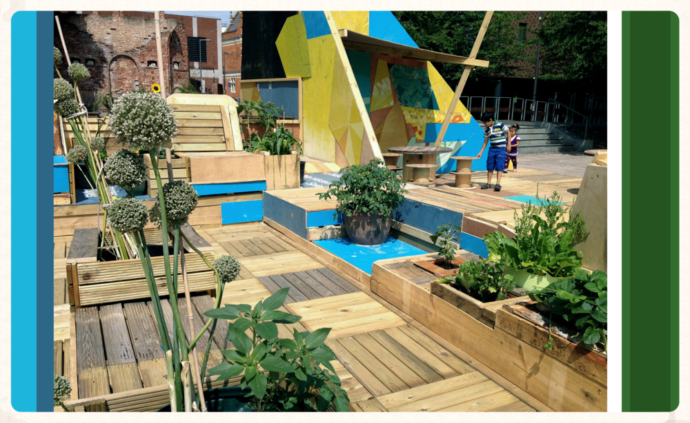 Pallet Pavilion 200sqm Installation - Barking Town Square - London