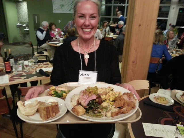Amy Campbell from the Tennessee Farm Table....let's eat!