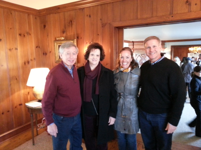 Allan & Sharon Benton with Amy and Marc Rochelson at Black Berry Farm during the Southern Foodways Alliance meeting, January, 2015.
