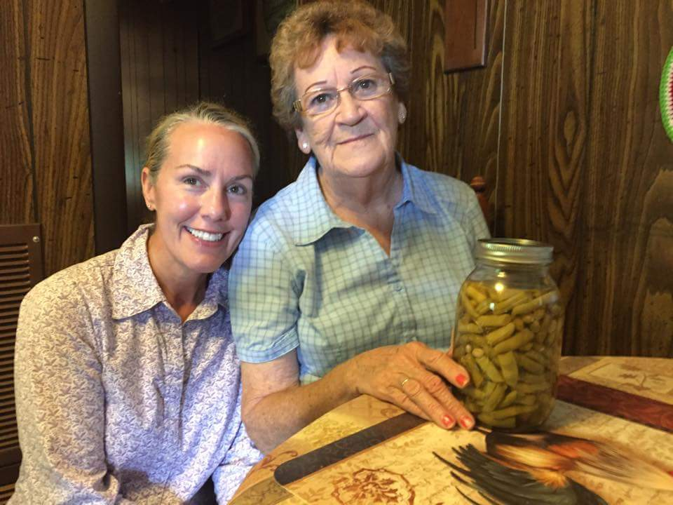 Mary Phillips of Friendsville, Tennessee shares with us canning wisdom, the signs, the difference between white half runners and peanut beans and a little marriage wisdom. Mary is kin to the Walker Family who used to make their home in the Great Smoky Mountains National park. Phot by her Grand Daughter Amy Sawyer.