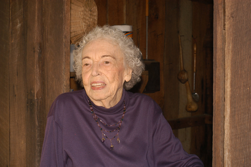 The late Minnie Curtis who's recipe for Red Bud Jelly is shared by Fred Sauceman in this episode of The Tennessee Farm Table. Photo from Fred Sauceman.
