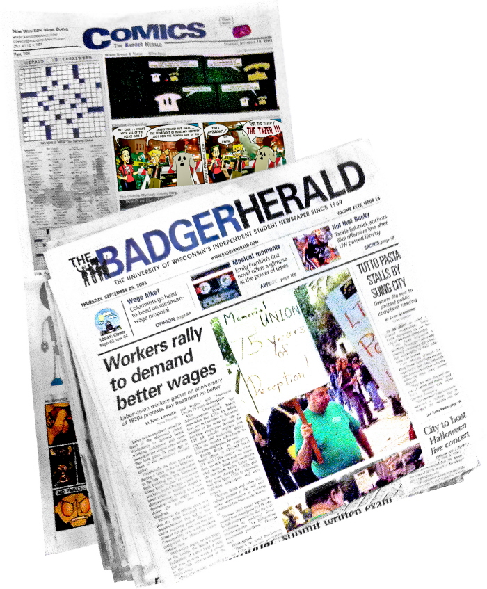 Counter-Productive was carried by the Badger Herald for five years.