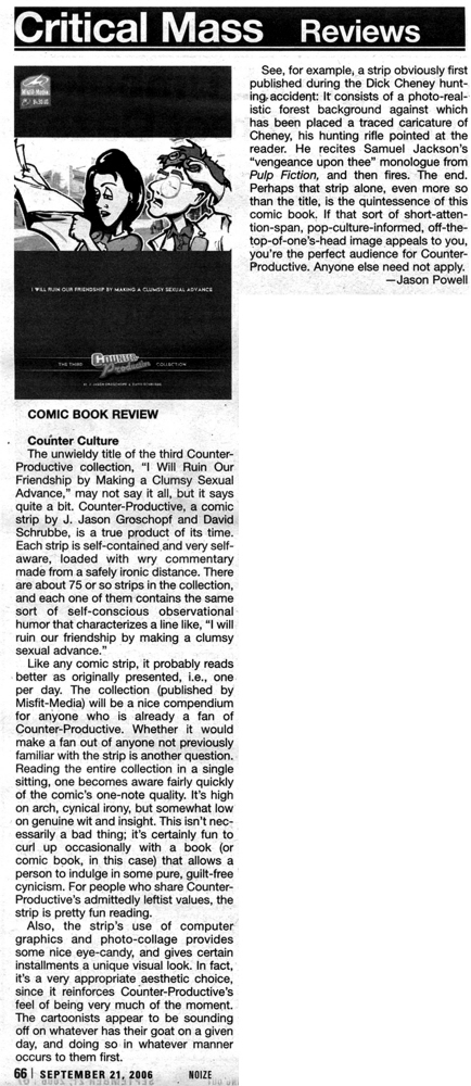Review of our third book that appeared in the  Shepherd Express .