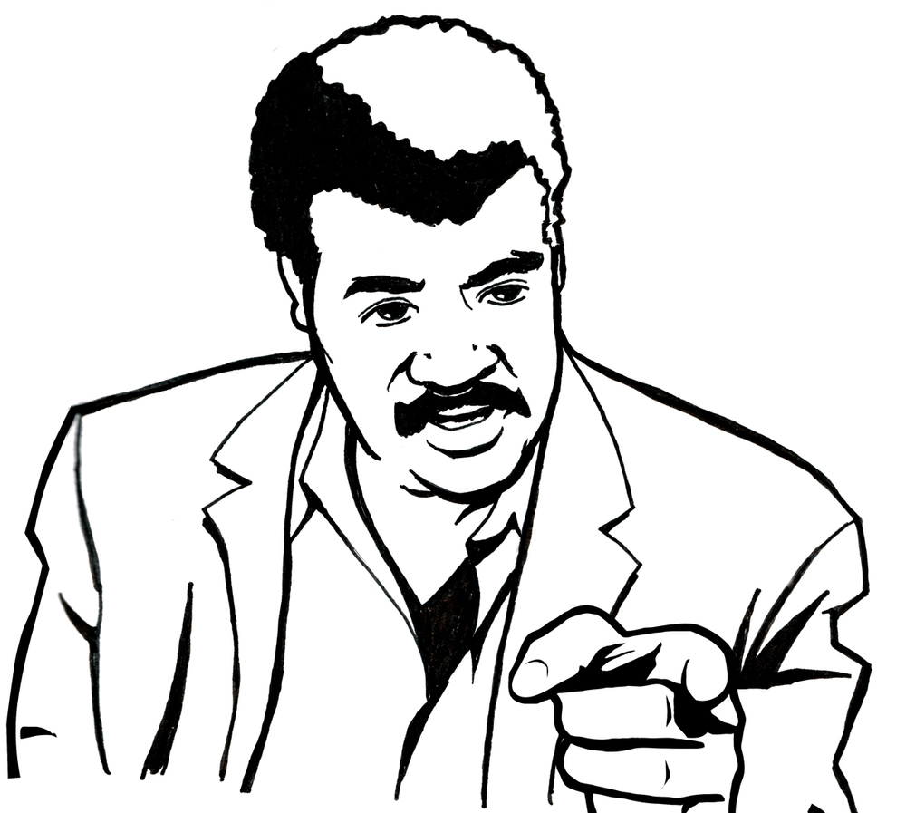 The immutable Dr. Neil deGrasse Tyson, prior to vector conversion.