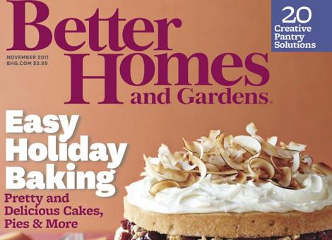 Julie's kitchen featured in November 2011