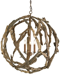 large orb chandelier. Extra Large Driftwood Orb Chandelier