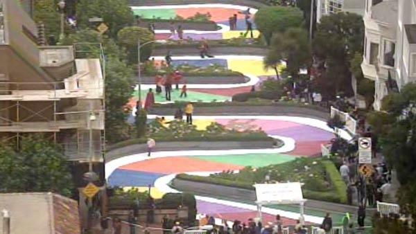 I once helped turn Lombard Street into a life-sized Candyland game.