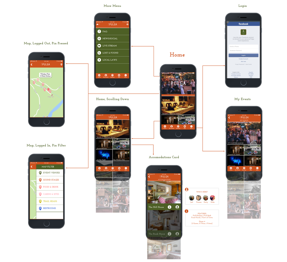 Town of Pulga - Design an end-to-end app for a resort destination and lifestyle brand.
