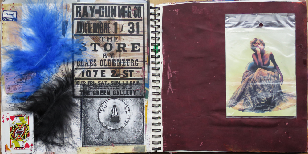 """Poster for Claes Oldenburg's """"The Store"""" (from the Hayward Gallery exhibition), Leftfield Leftism CD artwork & Tatjana Patitz by Nick Knight"""