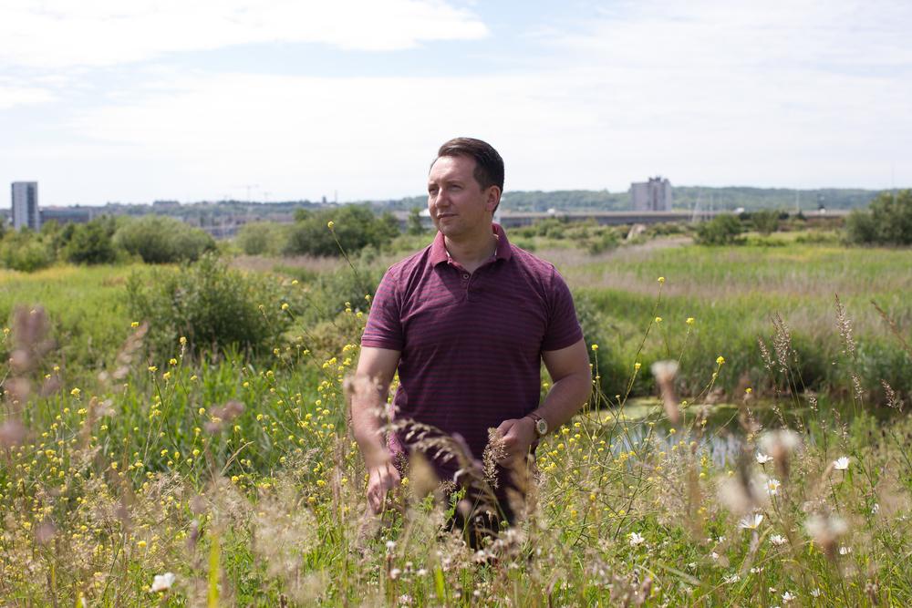 Dr Rhys Jones at Cardiff Wetlands, by Shaw & Shaw