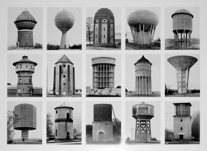 Bernd and Hilla Becher. Water Towers, 1980-89.
