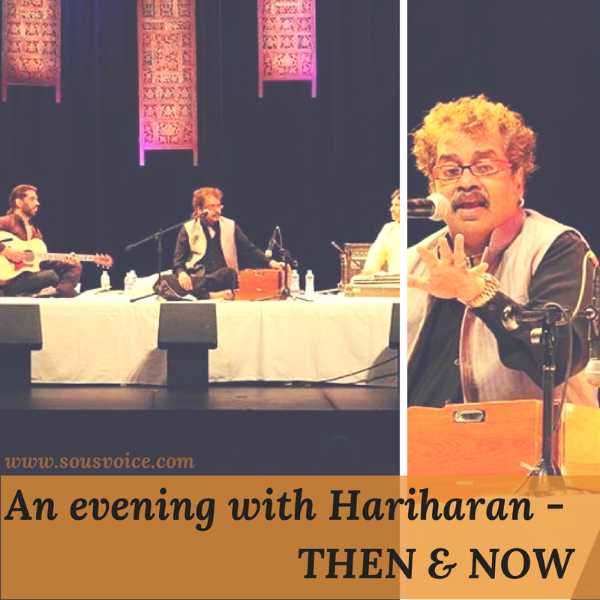 An evening with Hariharan. Photo courtesy: Hariharan - Official Facebook Page