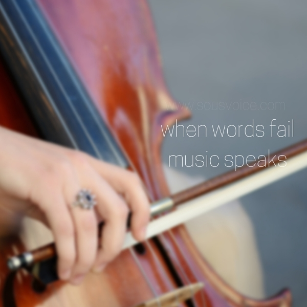 words fail music speaks sou's voice