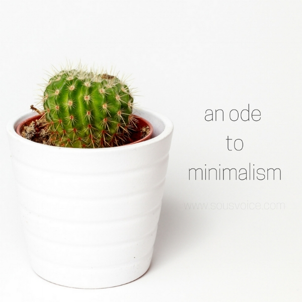 ode to minimalism sou's voice