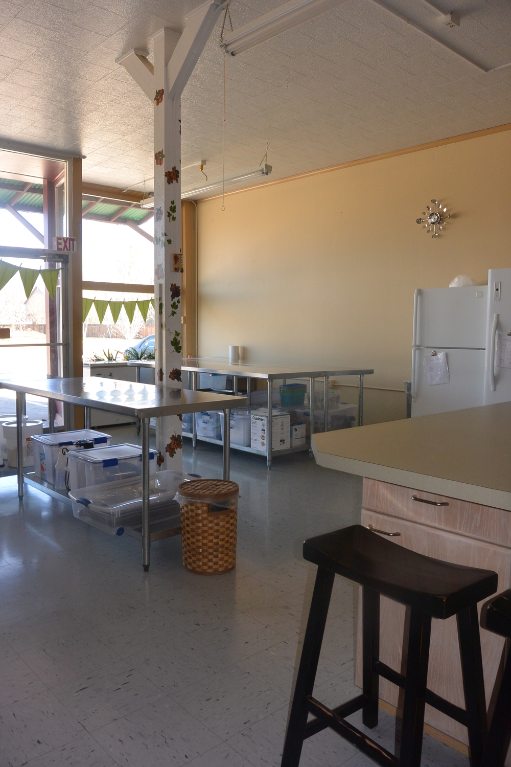 A Clean Well Lighted Space - My First View of the Co-Op Kitchen