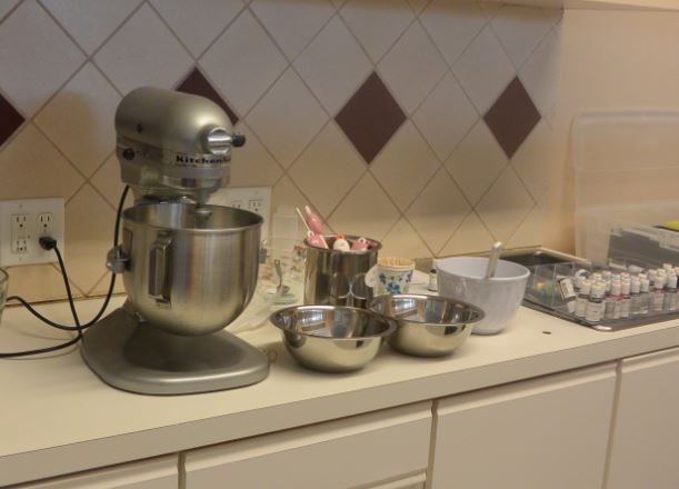 Ready to make up a batch of Royal Icing – My trusty Kitchen Aid at my side!