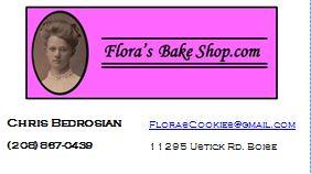 Flora's Bake Shop Business Card - April 2014 Version