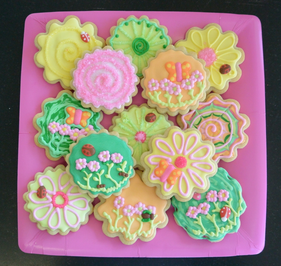 Spring is Springing Sugar Cookies with Beatles and Butterflies and Ladybugs!