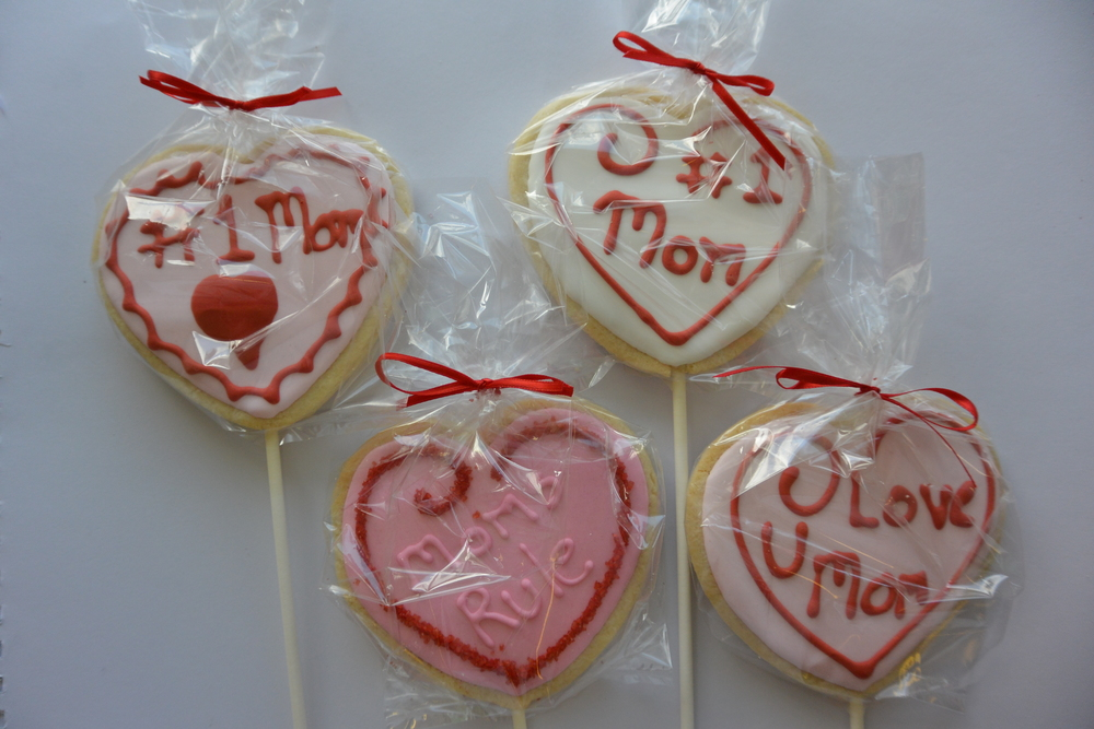 Mother's Day Sugar Cookies on Sticks