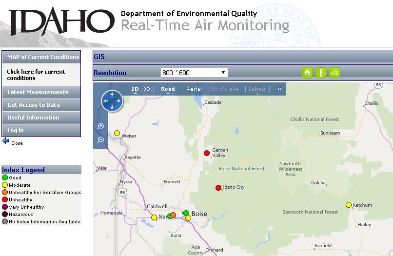 Boise Air Quality = no es bueno.