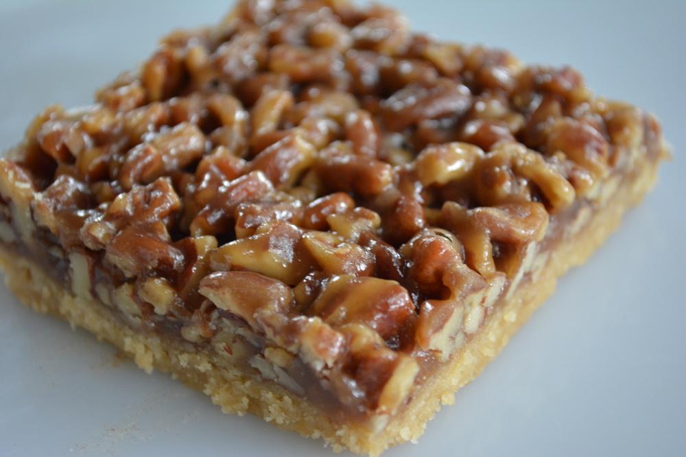 Pecan Pie Bars - 3 square inches of Yum!
