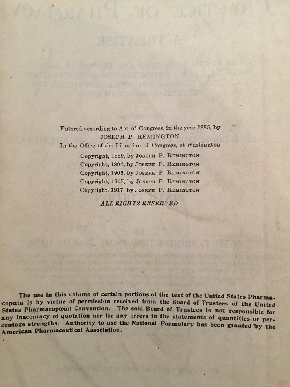 Publication Dates - 1885, 1889, 1894, 1905, 1907, 1917