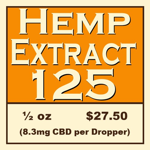 Click Image to Purchase Hemp Extract 125